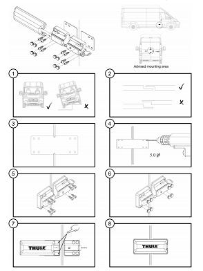 Thule Van Look instrucciones de montaje